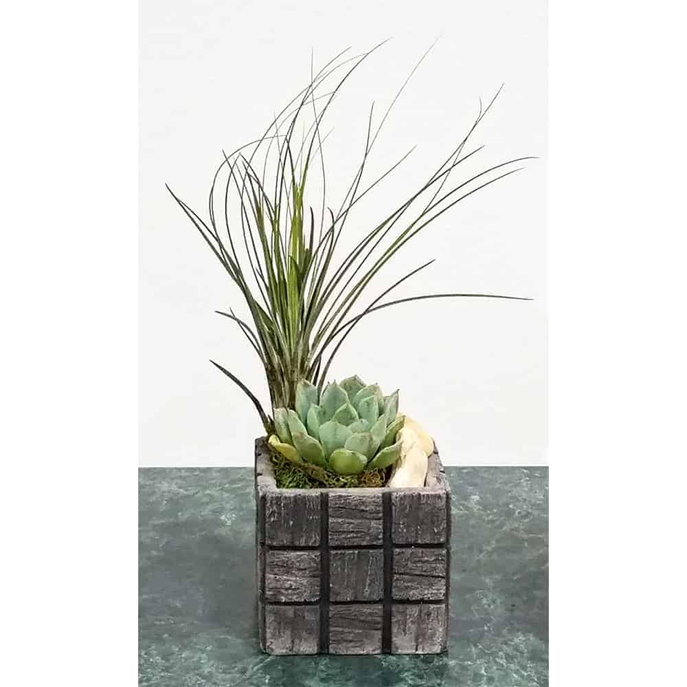 Wholesale Gray Tile Small Square Vase