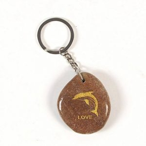 Inspirational Stone Keychain with Dolphin - Love