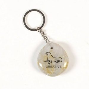 Inspirational Stone Keychain with Seal - Creative